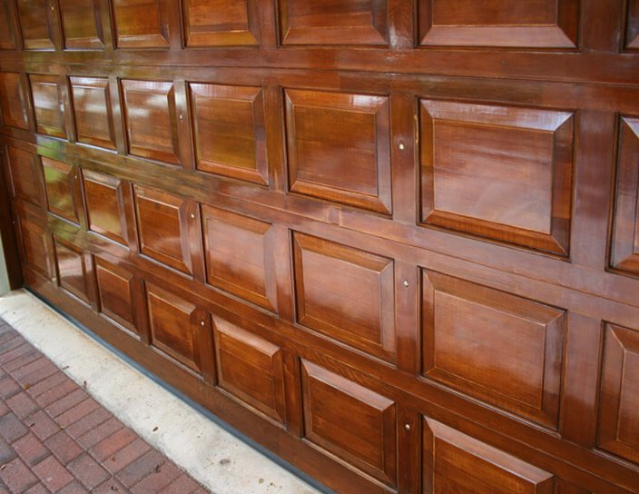 Staining your metal garage door anderson garage doors for Stained garage doors